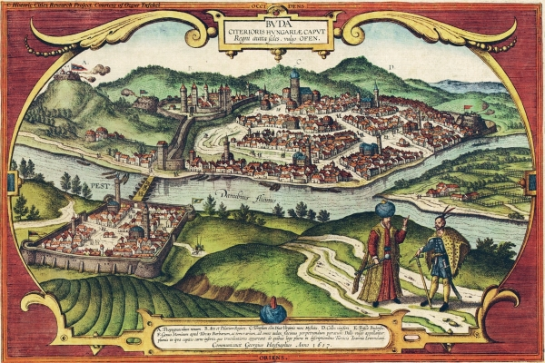 Mapa Budy ze 16. století